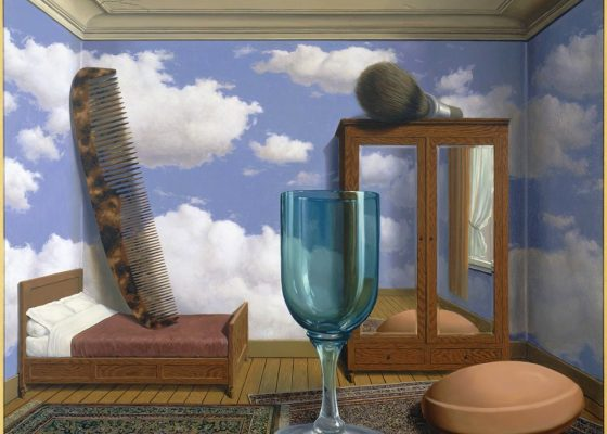 Les Valeurs Personelles by Rene Magritte for story on a spacious mind
