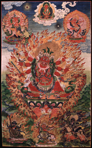 The Horse-Headed One, Hayagriva; Tibet, 18th century; Ground Mineral Pigment on Cotton; Rubin Museum of Art, Gift of Shelley and Donald Rubin, C2006.66.517 (HAR 987)